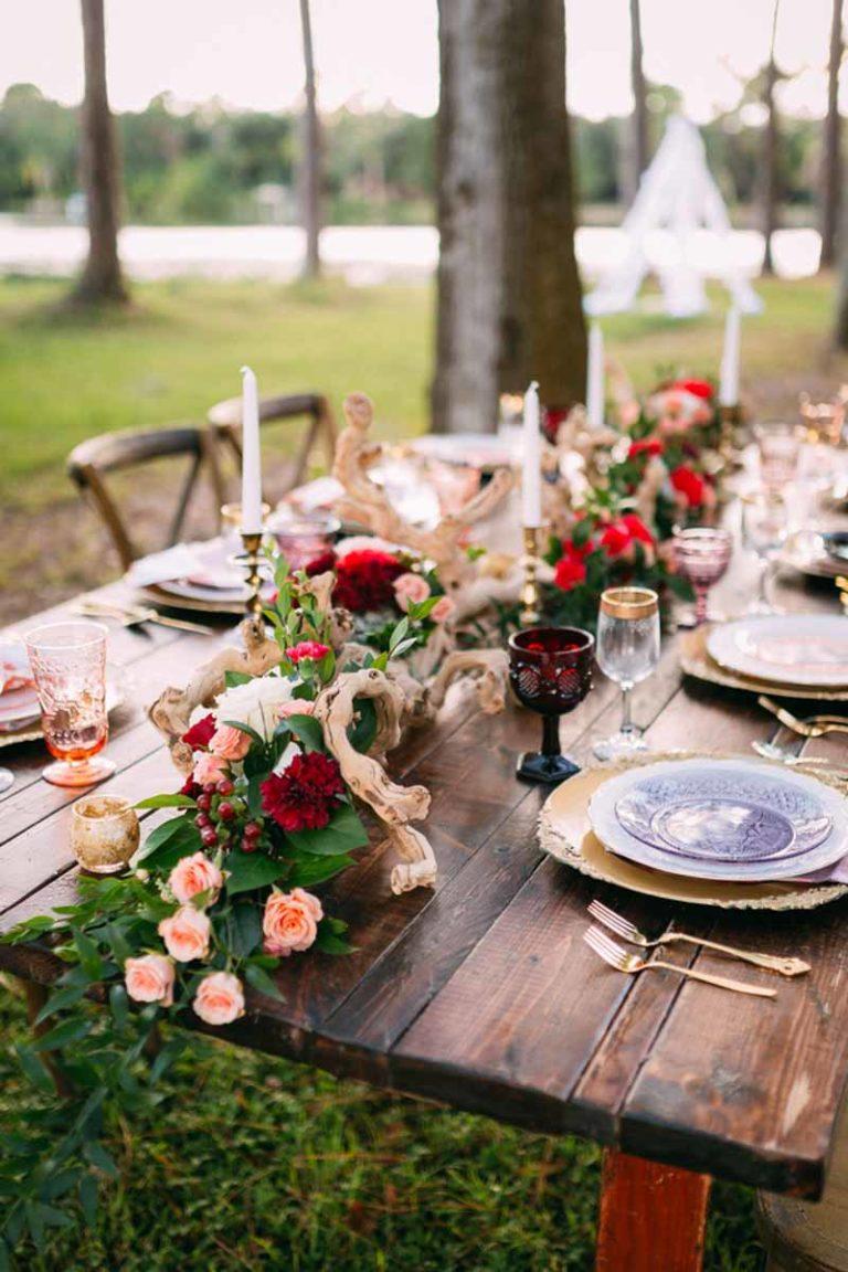 Bohemian Wedding Mahogany Table