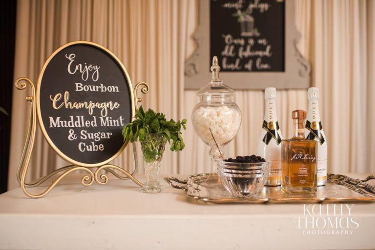 Downtown Wedding Crawl Bar Display