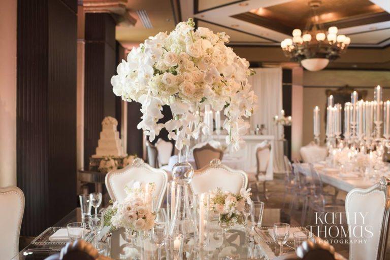 Downtown Wedding Crawl Glass Table
