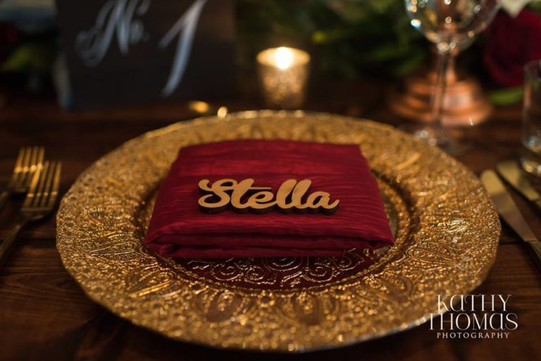 Downtown Wedding Crawl Gold Charger