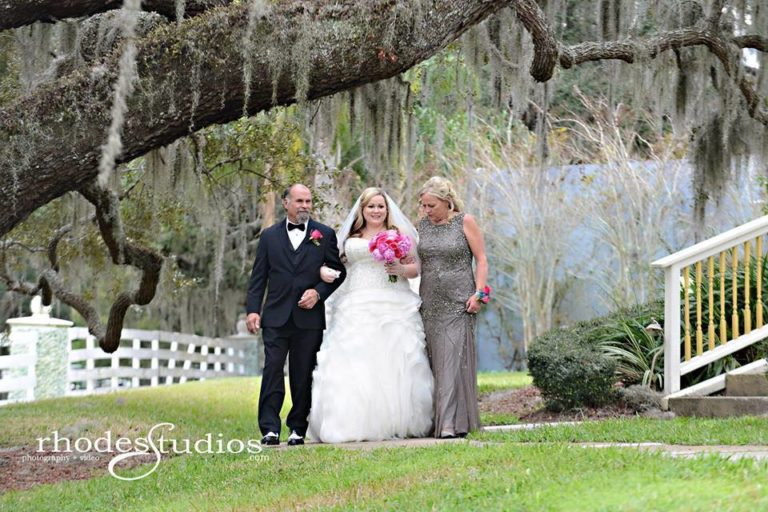 Highland Manor Wedding bride ceremony