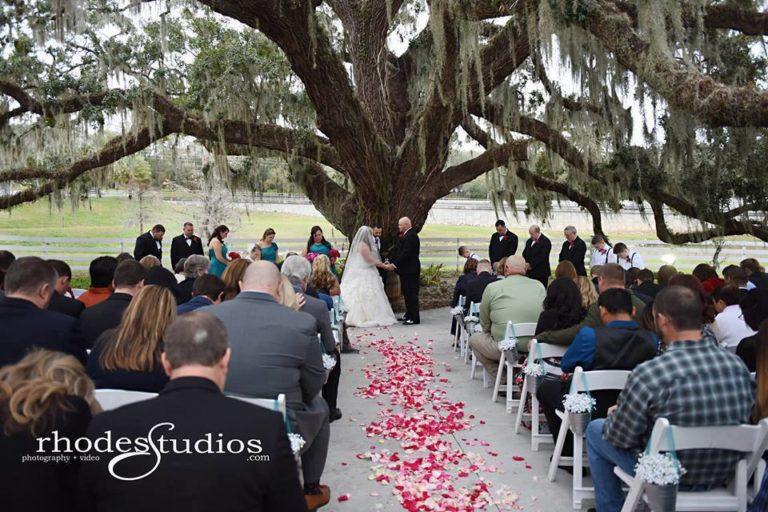 Highland Manor Wedding ceremony couple