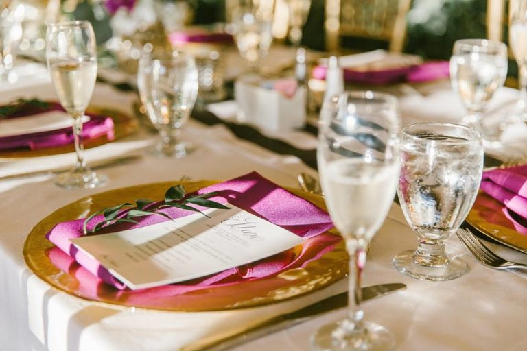 Mission Inn Resort Wedding Gold Charger