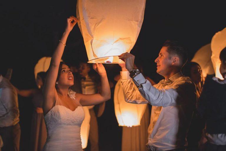 Outdoor Desert Wedding Chinese Lanterns