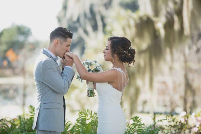 Outdoor Desert Wedding Couple