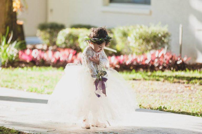 Outdoor Desert Wedding Flowergirl