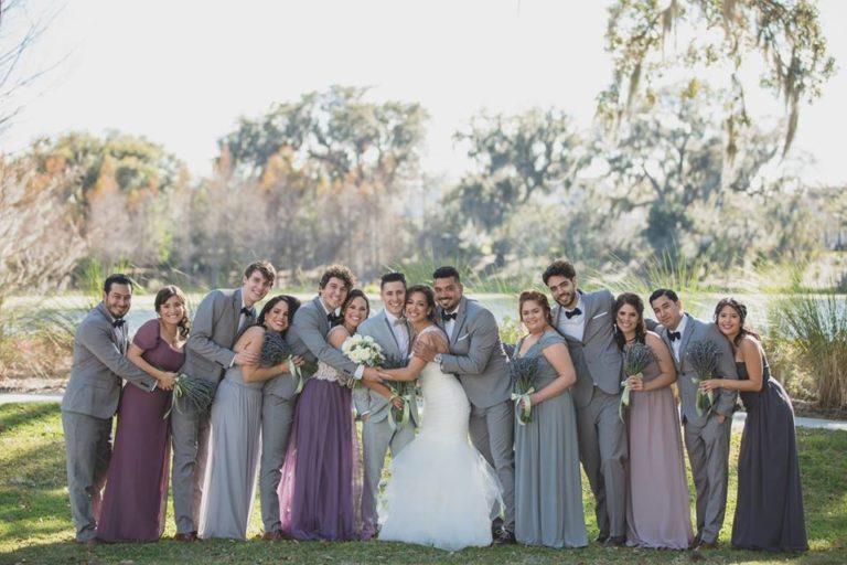 Outdoor Desert Wedding Party