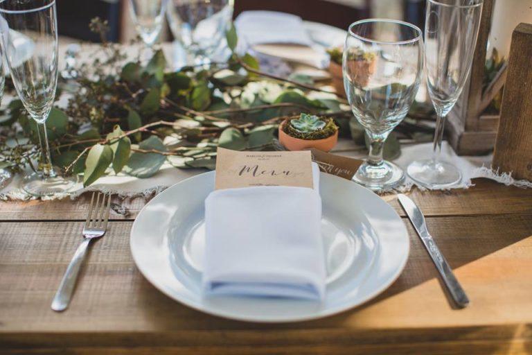Outdoor Desert Wedding Reception Place Setting