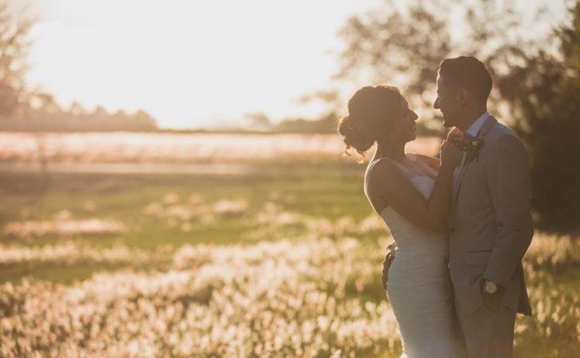 Outdoor Desert Wedding Sunset