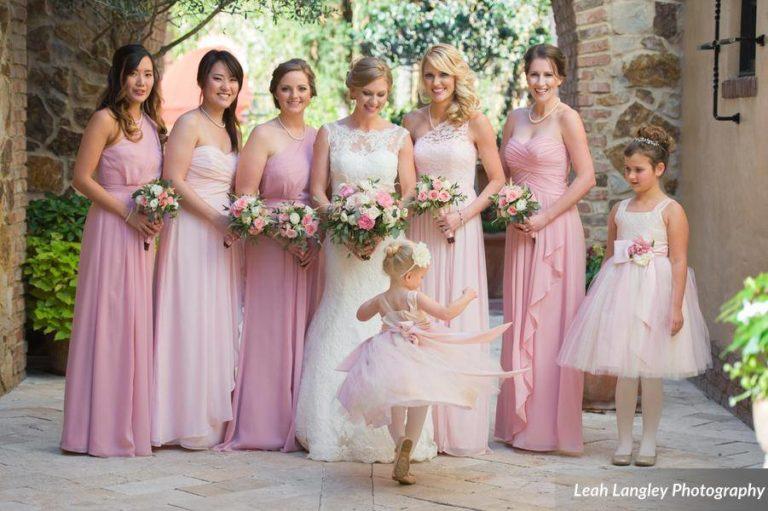 Pink Bella Collina Wedding Bridal Party