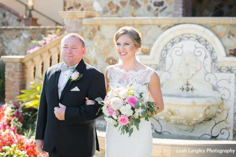 Pink Bella Collina Wedding Ceremony Bride