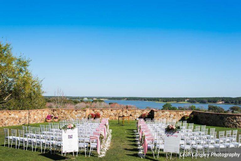 Pink Bella Collina Wedding Ceremony Chairs