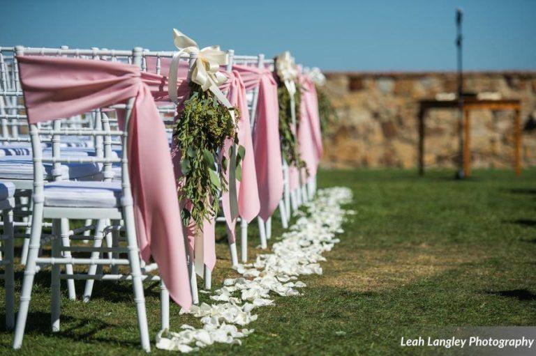 Pink Bella Collina Wedding Ceremony Chiavari