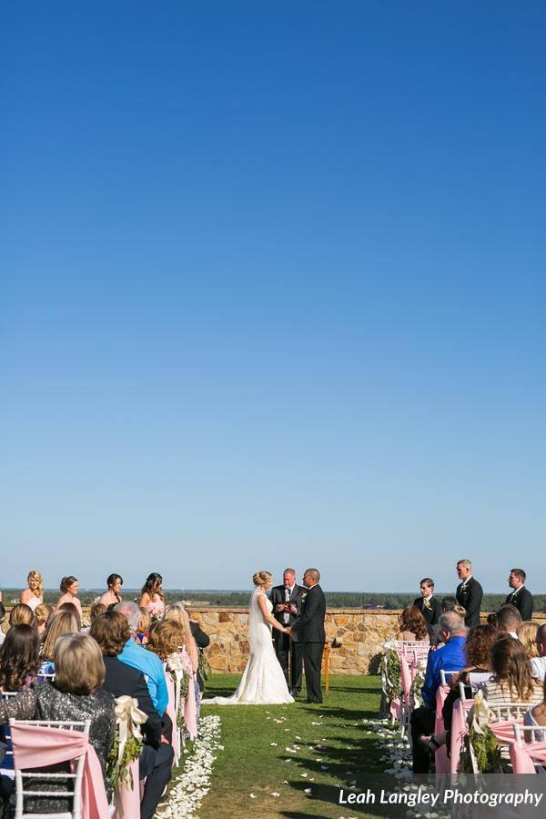 Pink Bella Collina Wedding Ceremony