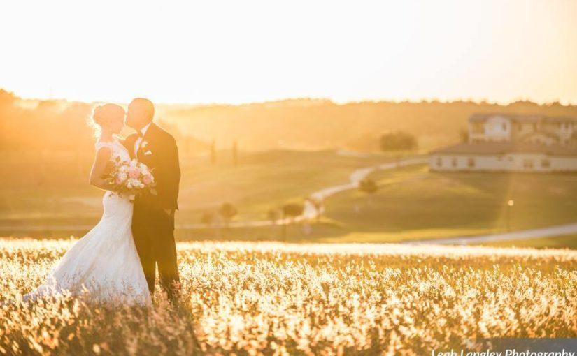 Pink Bella Collina Wedding Sunset