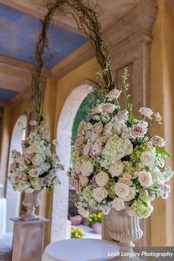 Romantic Bella Collina Wedding Altar FLowers