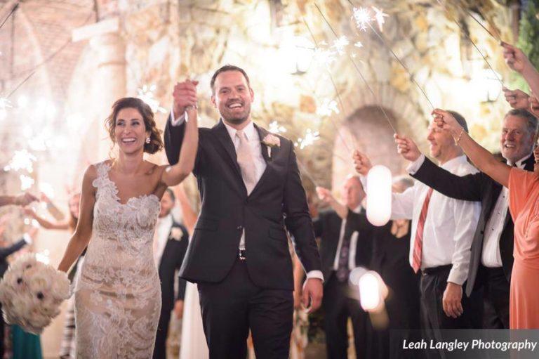 Romantic Bella Collina Wedding Sparklers