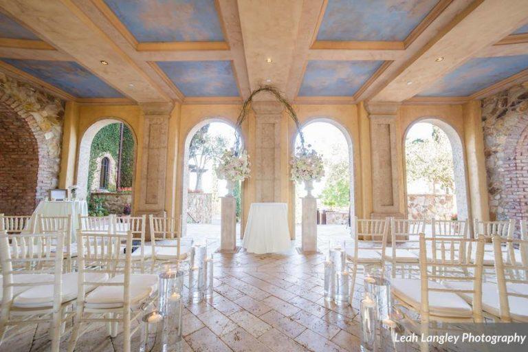 Romantic Bella Collina Wedding White Chiavari