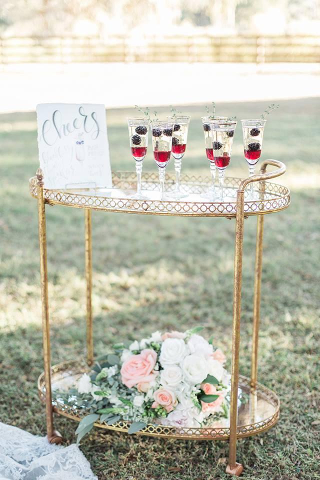 Southern Garden Chic Wedding Bar