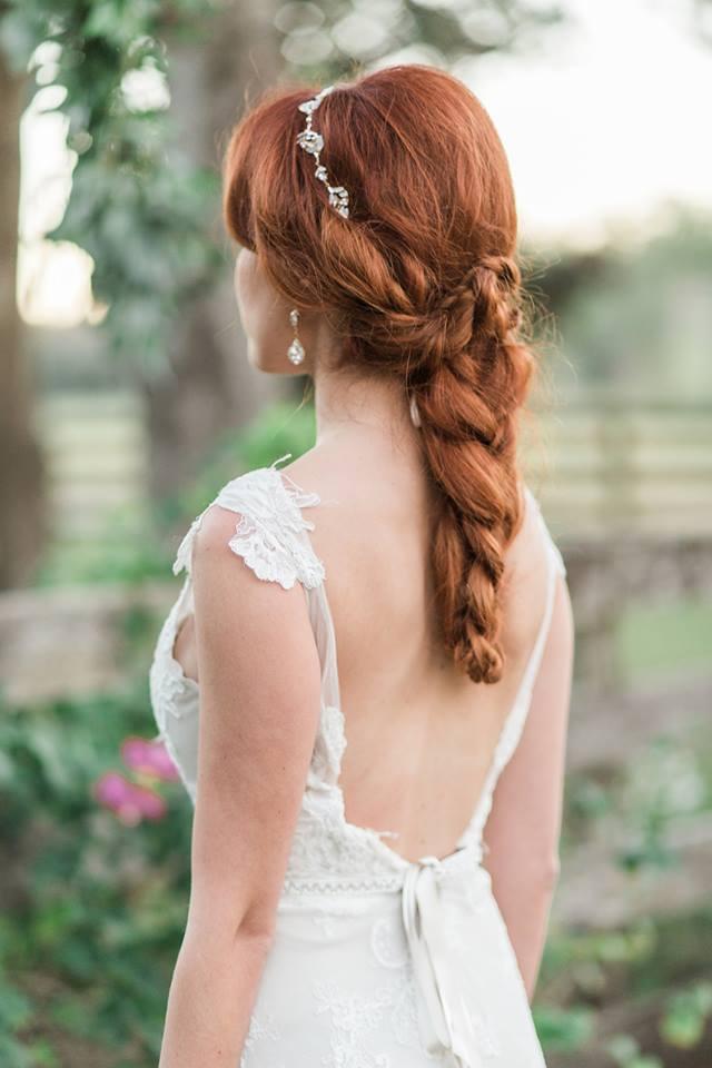 Southern Garden Chic Wedding Bridal Hair