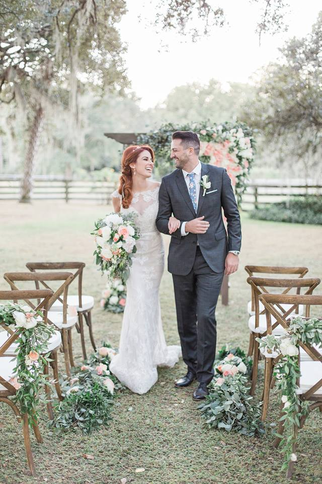 Southern Garden Chic Wedding Ceremony