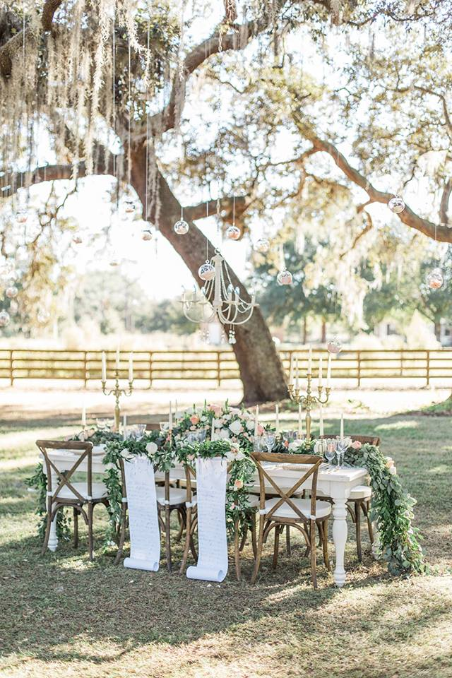 Southern Garden Chic Wedding Chameleon Table
