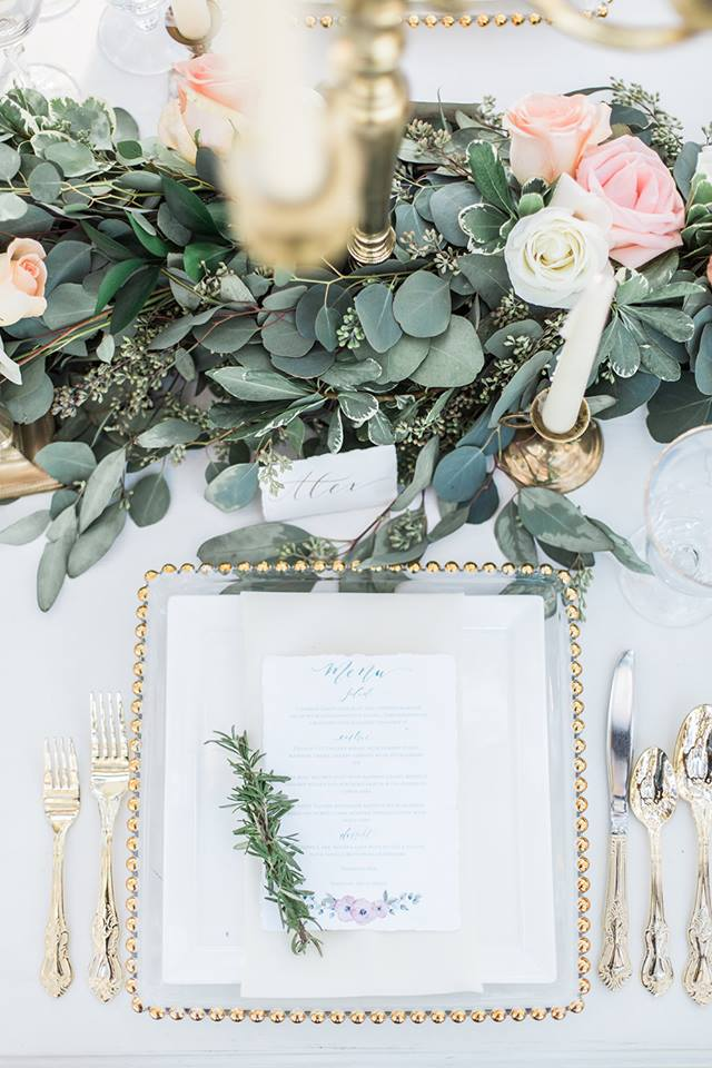 Southern Garden Chic Wedding Chargers