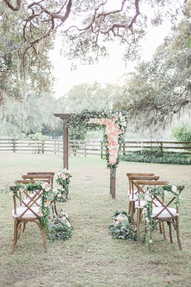 Southern Garden Chic Wedding French Chairs