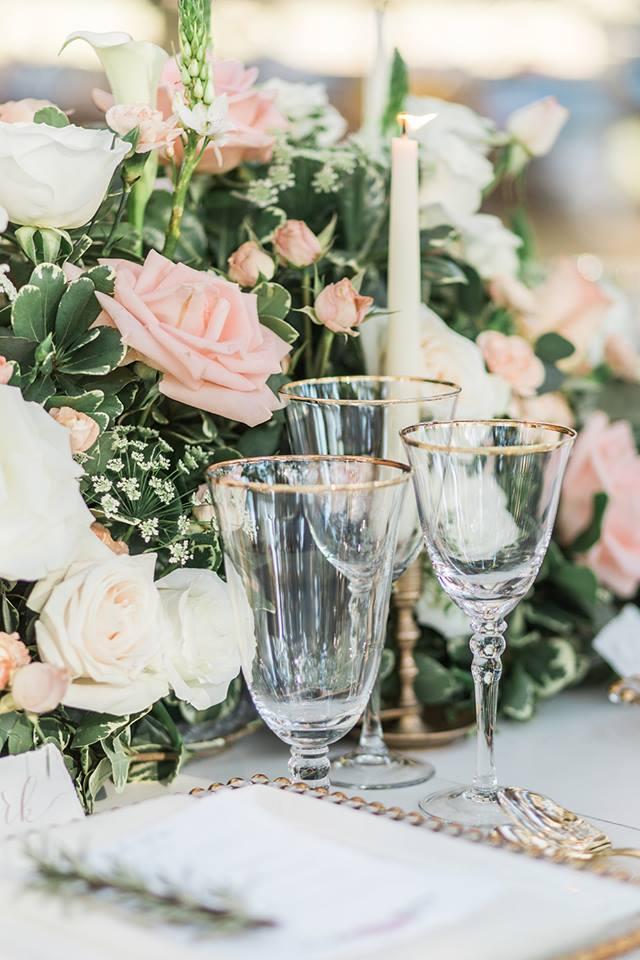 Southern Garden Chic Wedding Glassware