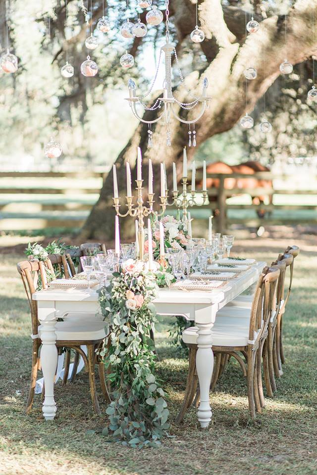 Southern Garden Chic Wedding Table