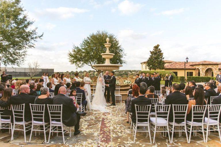 White Bella Collina Wedding Ceremony
