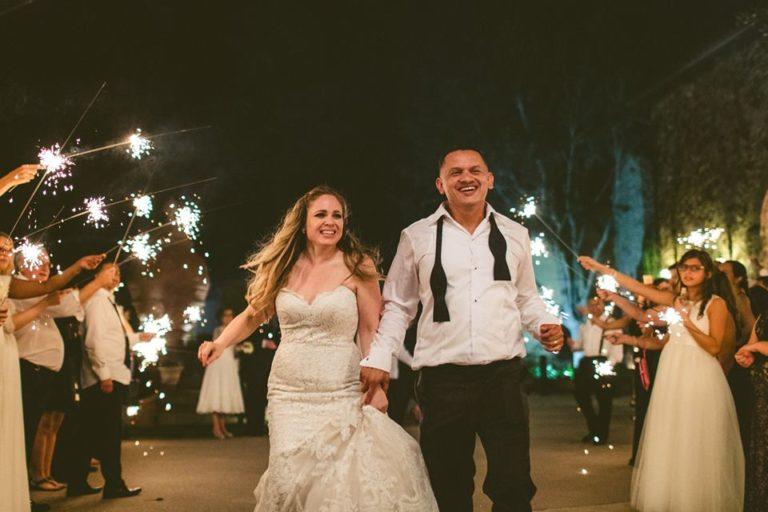 White Bella Collina Wedding Farewell