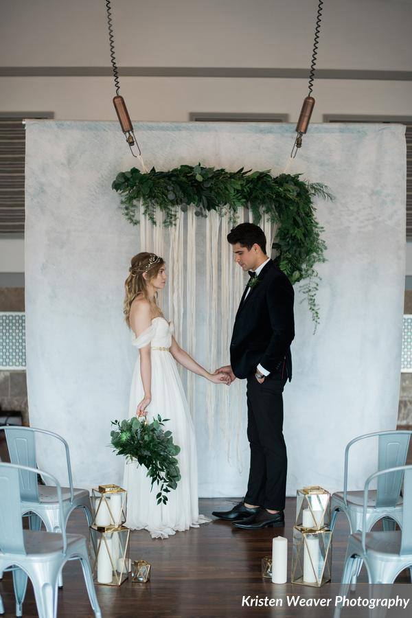bohemian wedding inspiration altar