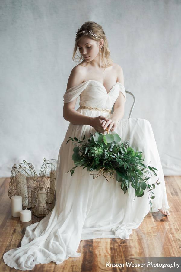 bohemian wedding inspiration bride sitting