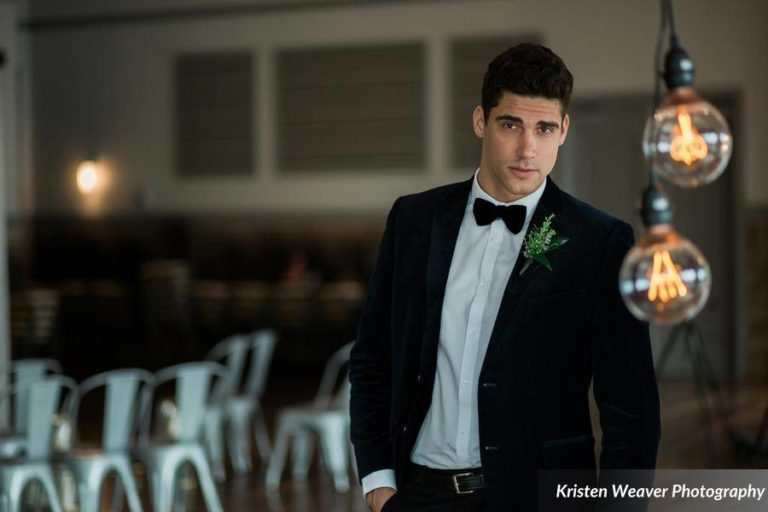 bohemian wedding inspiration groom
