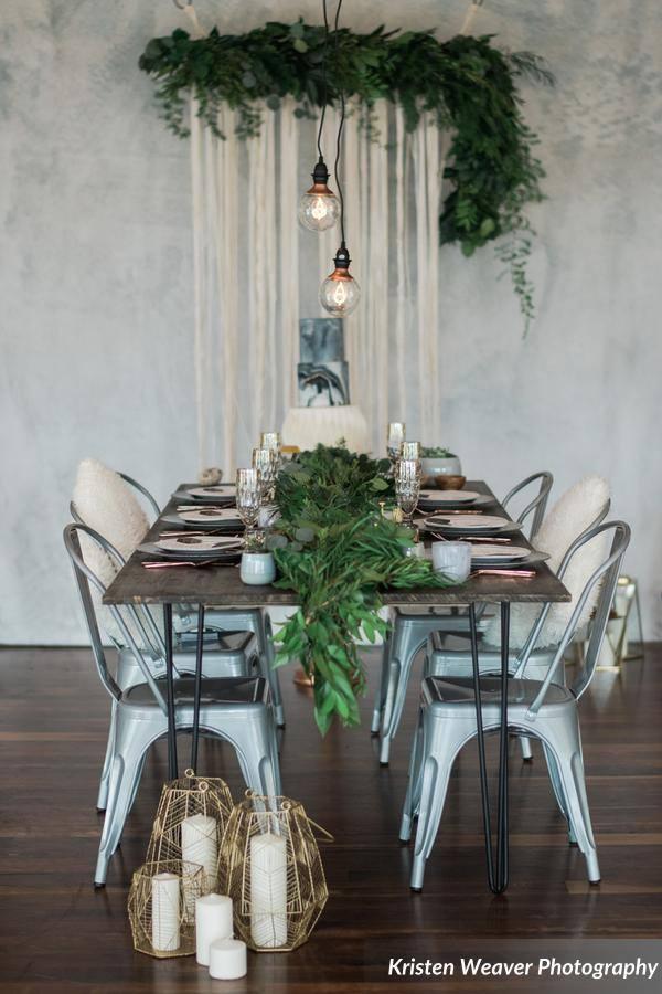 bohemian wedding inspiration table altar