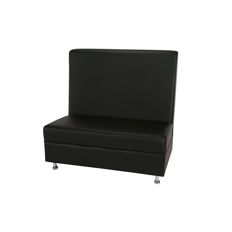 4ft Black Mod Furniture Hight Back - A Chair Affair Rentals