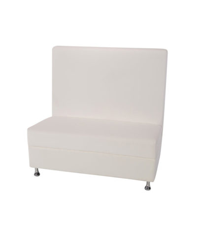 4ft White Mod Furniture High Back – A Chair Affair Rentals