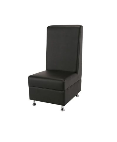 Black Mod High Back Armless Chair