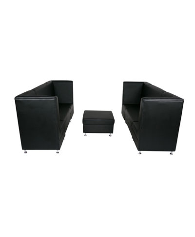 Black Mod High Back Grouping w ottoman – A Chair Affair Rentals