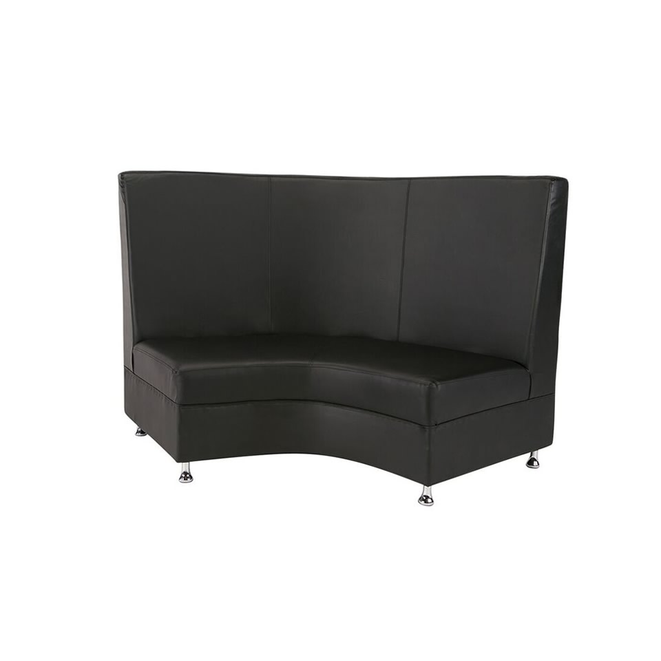 Black Mod Highback Curved Love Seat