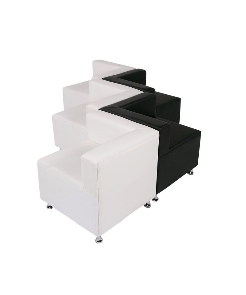 Remarkable Black And White Mod Low Back Zigzag A Chair Affair Inc Short Links Chair Design For Home Short Linksinfo