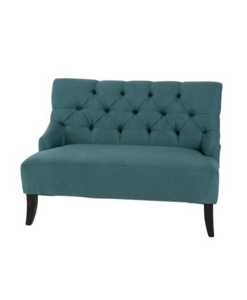 Brooklyn Settee Teal - A Chair Affair Rentals