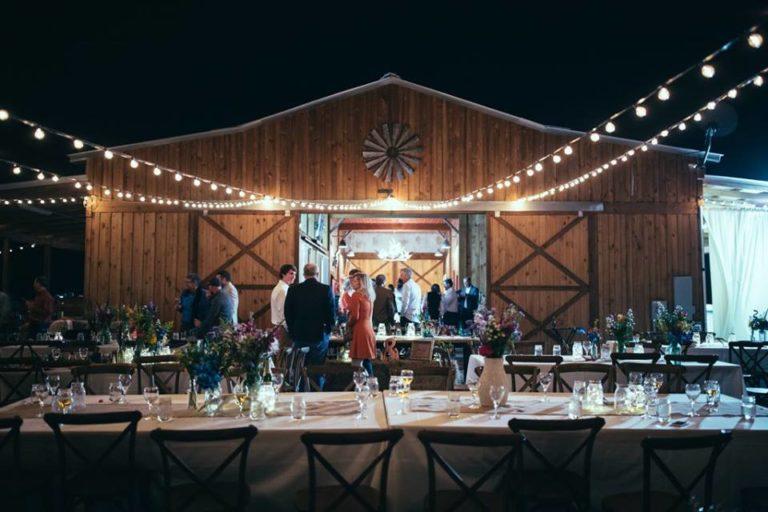 Country Wedding reception