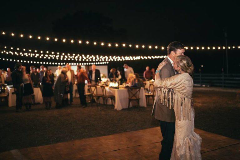 Country wedding reception dance