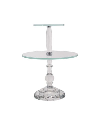 Crystal Double Dessert Stand – A Chair Affair Rentals