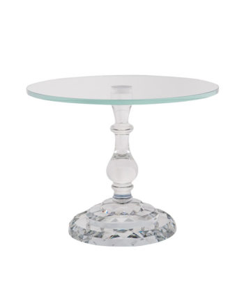 Crystal Single Dessert Stand - A Chair Affair Rentals