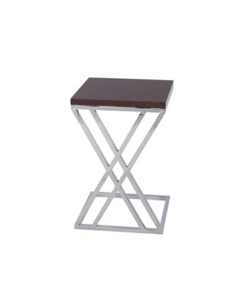 Espresso Mabel End Table - A Chair Affair Rentals