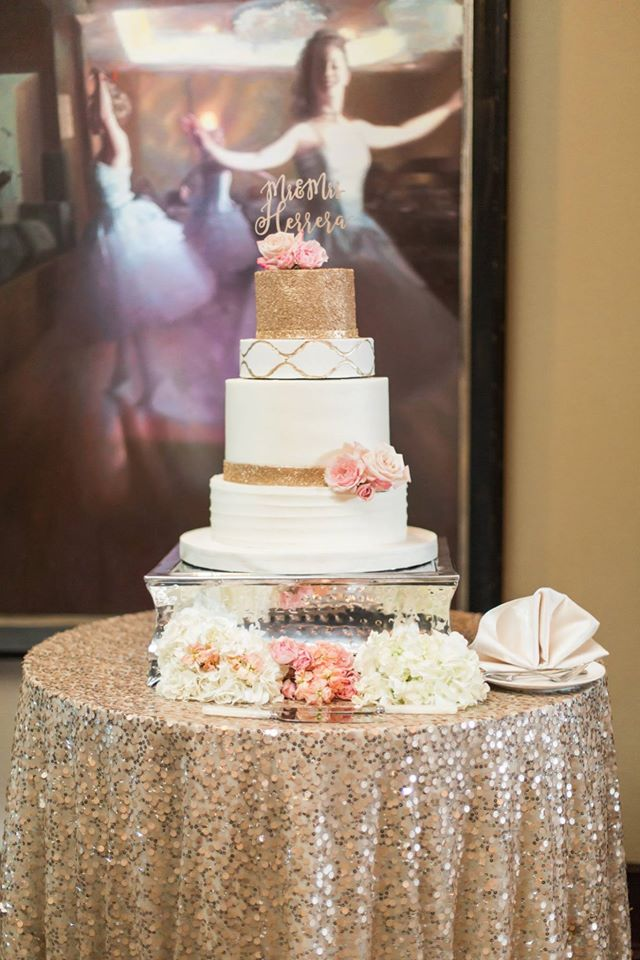 Gold Grand Bohemian Wedding cake