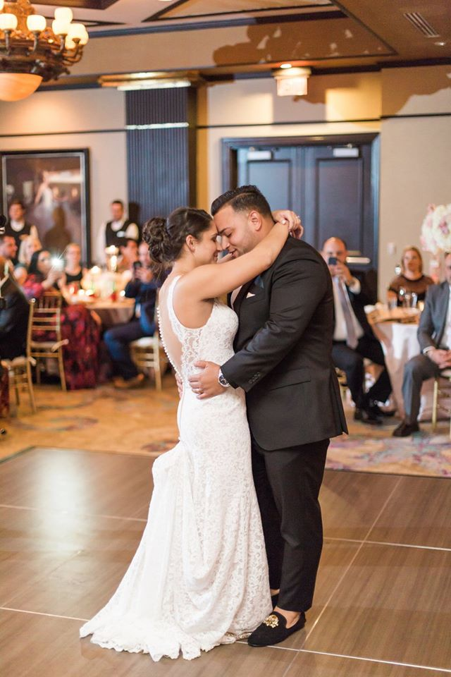 Gold Grand Bohemian Wedding first dance